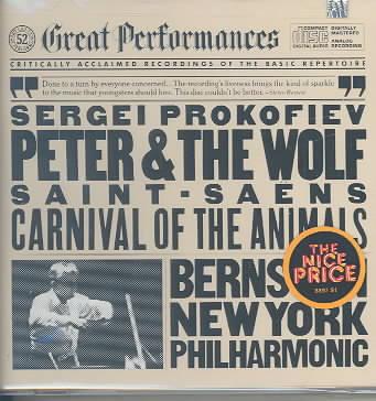 PROKOFIEV:PETER & THE WOLF BY BERNSTEIN/NEW YORK P (CD)